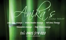 Anikas Massage Therapy - Accommodation Port Hedland