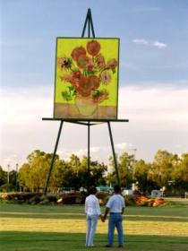 Van Gogh Sunflower Painting - Accommodation Port Hedland