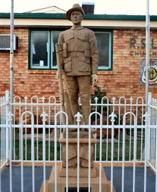 Soldier Statue Memorial Chinchilla - Accommodation Port Hedland