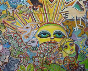 The Painting of Life by Mirka Mora - Accommodation Port Hedland