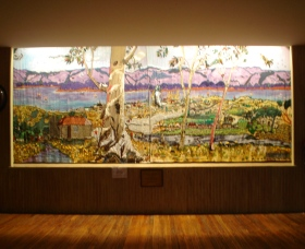 Adaminaby Memorial Hall Stage Curtain - Accommodation Port Hedland