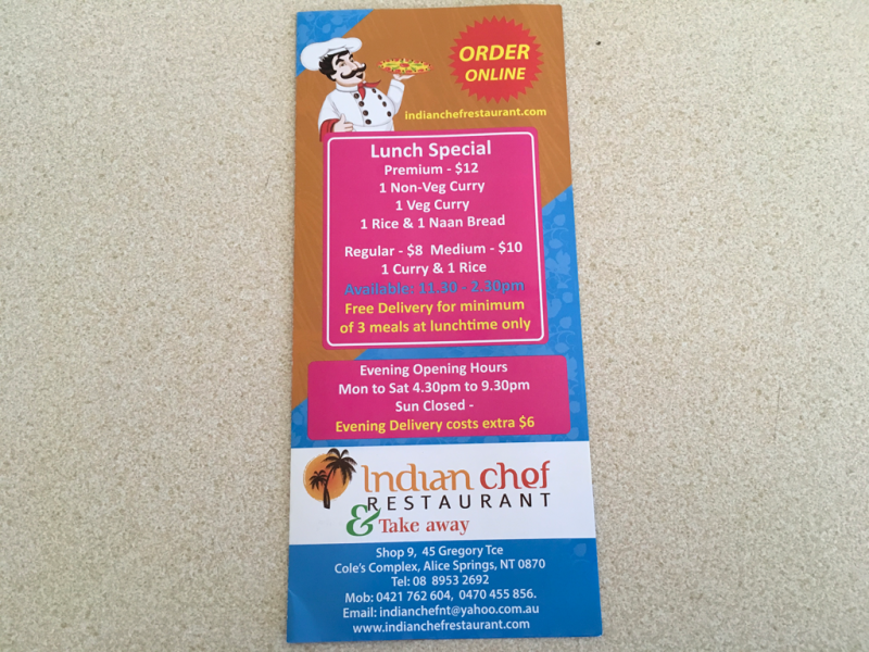 Indian chef restaurant  Take away - Accommodation Port Hedland